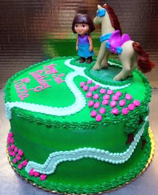 Girl Pony Theme Cake