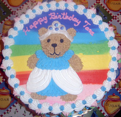 Girl Princess Bear Cake