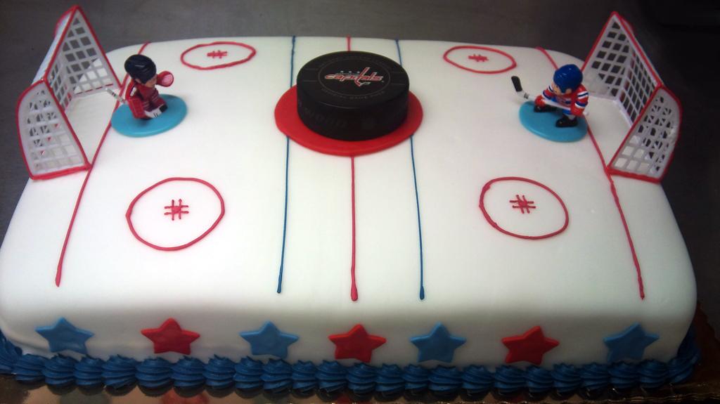 Sports Hockey Theme Cake