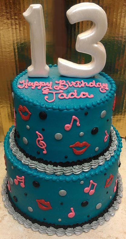 Girl Music and Lips Cake
