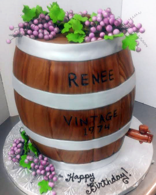 Adult Grape Barrell Cake
