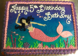 Girl Mermaid Cake