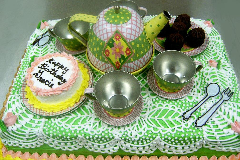 Girl Tea Party Cake
