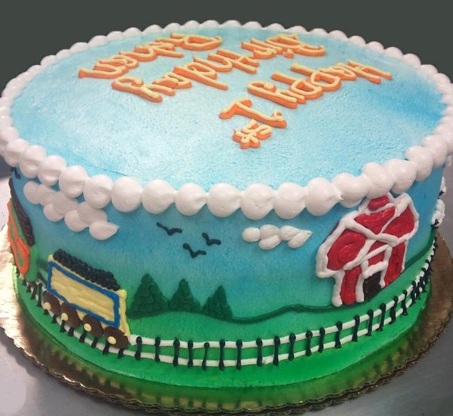 Boy Barnyard Theme Cake