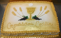 Religious Piped Chalice Cake