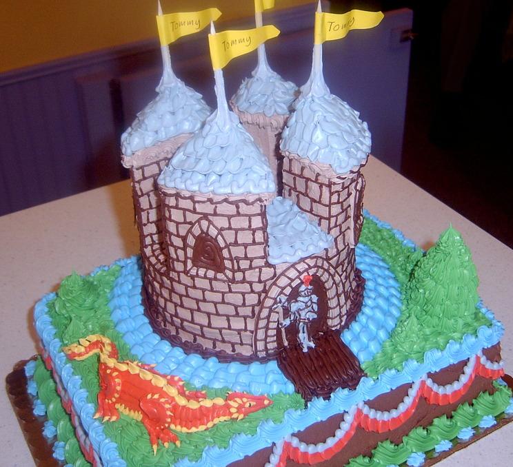 Girl Sculpted Castle Cake