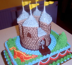 Girl Sculpted Castle Cake