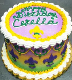 Adult Fleur de Lis Cake