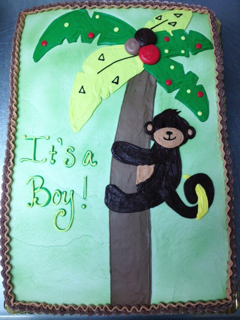 Baby Shower Monkey in a Tree Cake