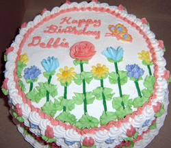 Adult Spring Flowers Cake