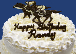 Adult Race Horse Theme Cake
