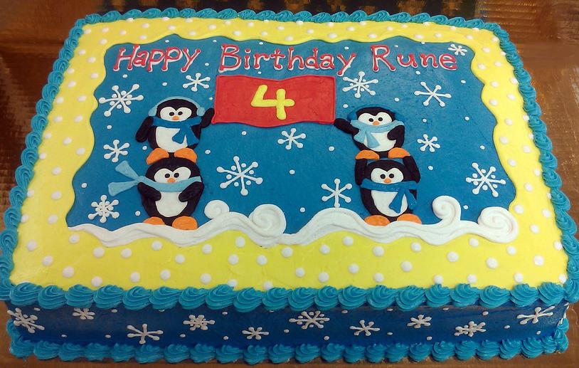 Girl Penguin Cake
