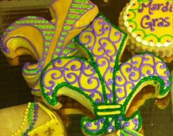 Fluer de Lis Royal Iced Cookie