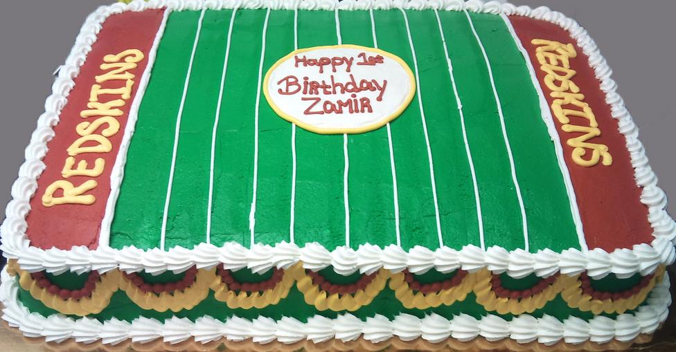 Sports Football Field Cake
