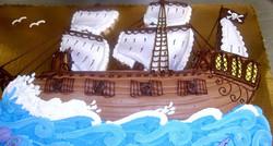 Boy Pirate Ship II Cake