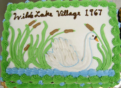 Adult White Swan Cake