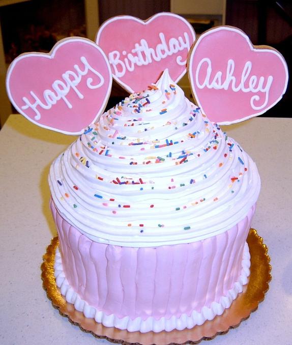 Girl Large Cupcake Cake
