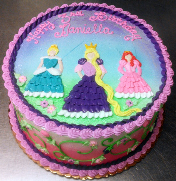 Girl Princess Theme Cake