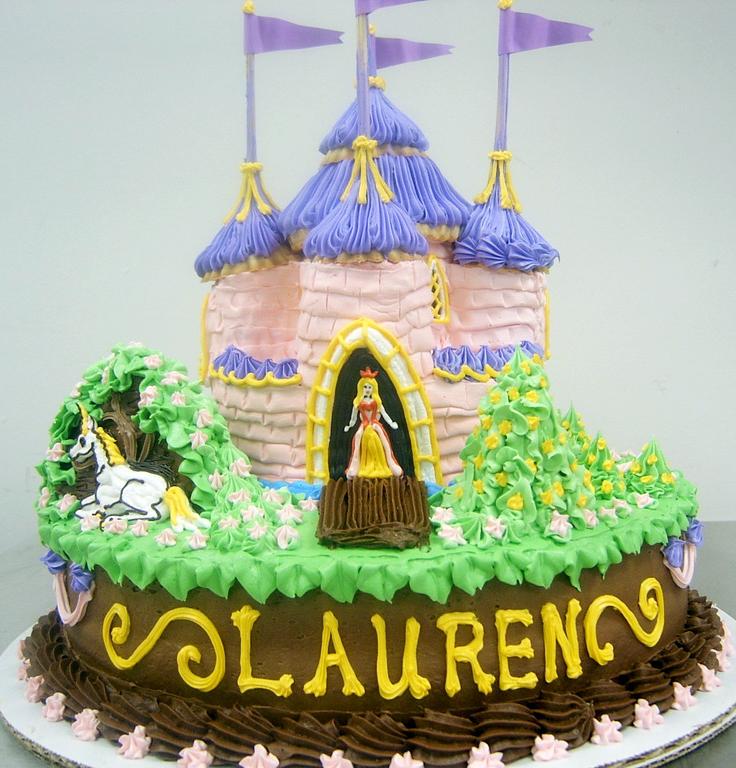 Girl Elegant Castle Cake
