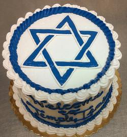 Religious Star of David Cake