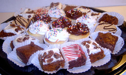 Assortment of Brownies and Cupcakes