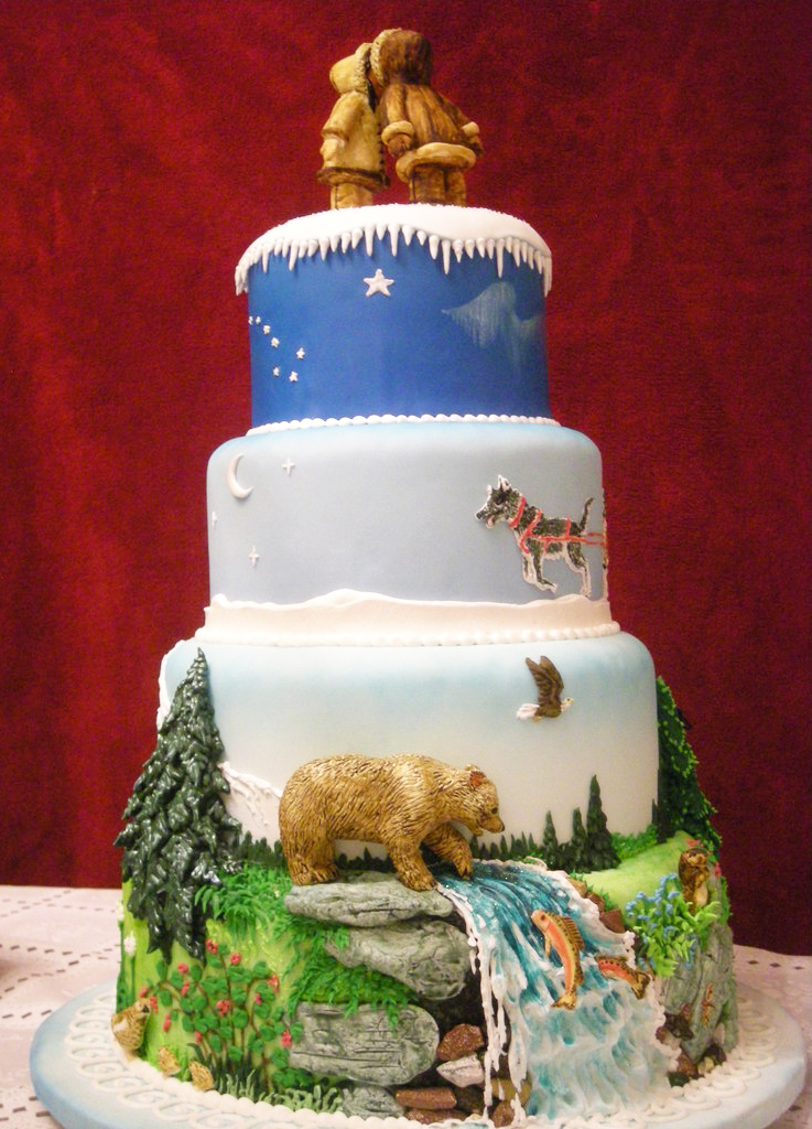 Alaskan Wedding Cake