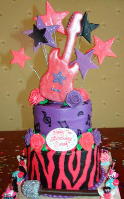 Girl Rock Star Cake