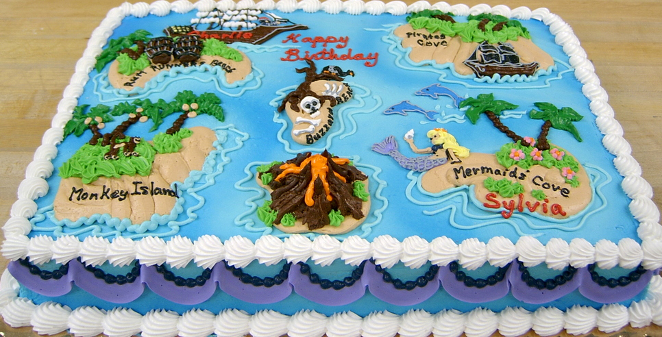 Boy Treasure Map Cake