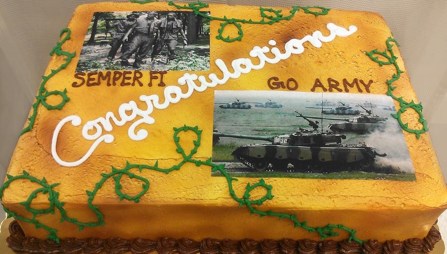 Custom Photo V Cake