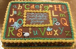 Baby Shower Alphabet Cake