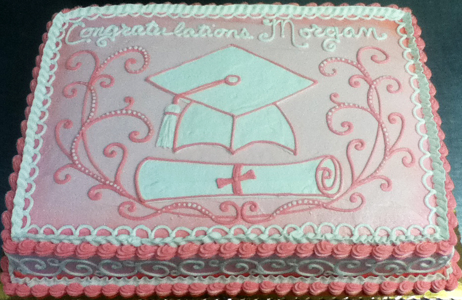 Graduation Cap and Scroll Cake
