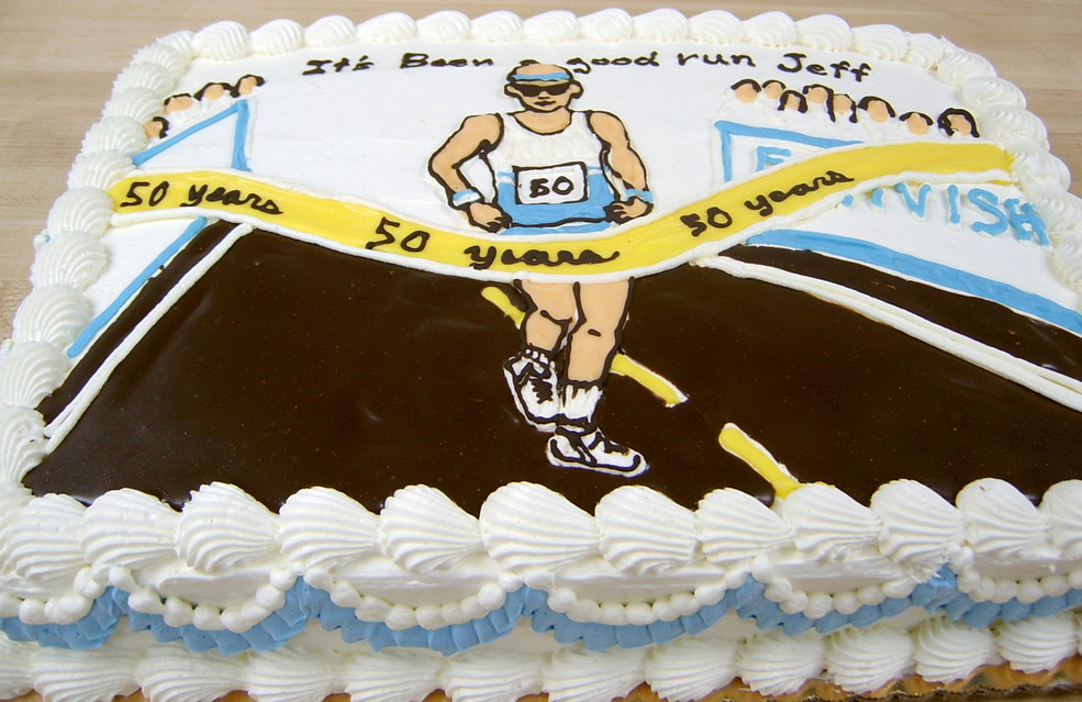 Adult Runner Theme Cake