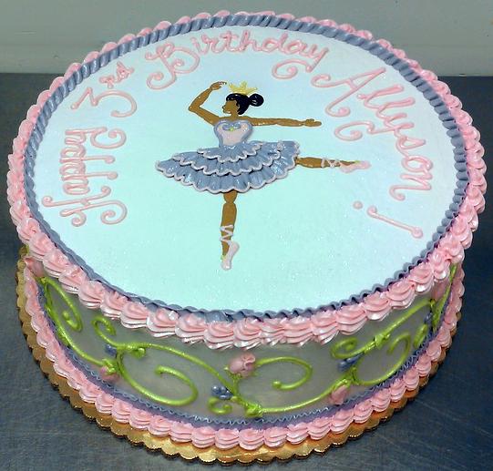 Girl Ballarina Cake