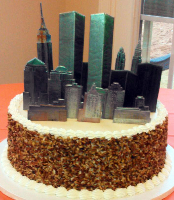 Adult New York Skyline Cake