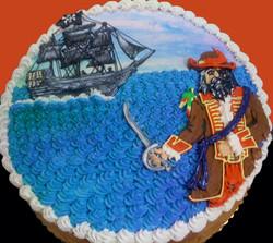 Boy Pirate II Cake