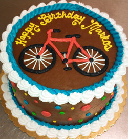 Adult Simple Bike and Dot Cake