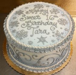 Girl Elegant Snowflake Cake