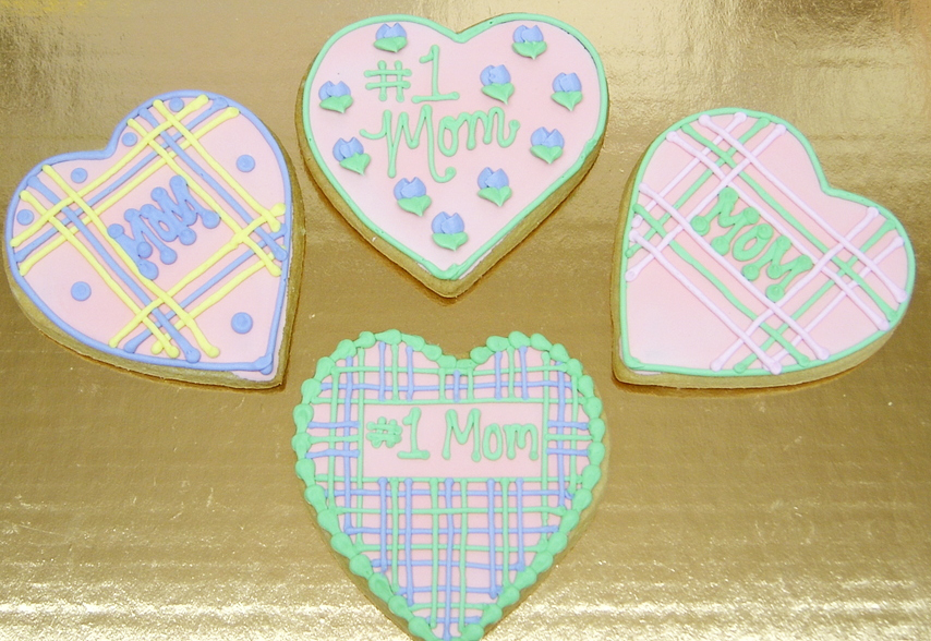 assorted hearts Royal Iced cookies