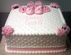 Baby Shower Sculpted Booties Cake
