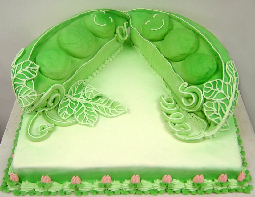Baby Shower Peas in a Pod Cake