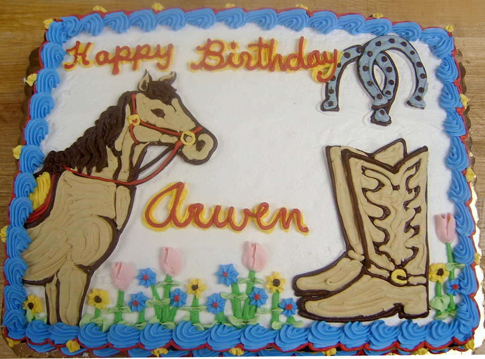 Girl Equestrian Theme Cake