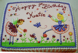 Girl Dancing Faires Cake