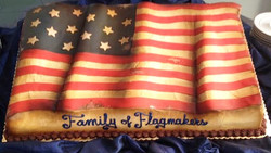 Adult American Flag Cake
