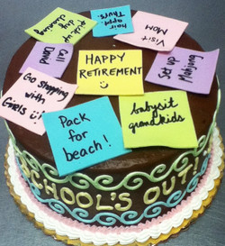 Adult Sticky Note Cake