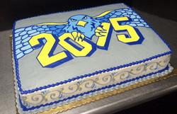 Graduation Mascot Logo Cake