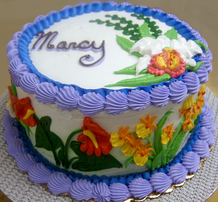 Adult Tropical Flower Cake