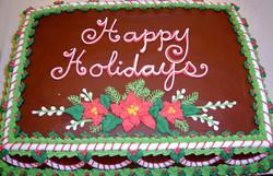 holiday poinsettia cake