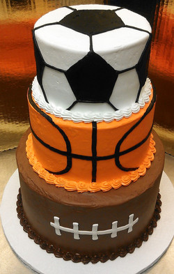 Sports Theme Tiered Cake