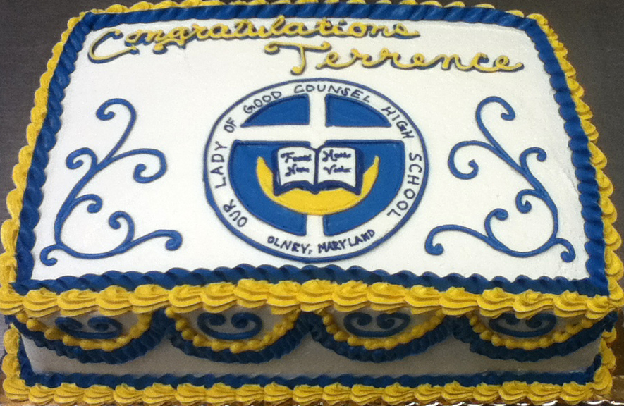 Graduation School Logo Cake