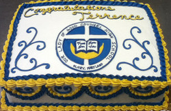 Graduation School Logo Cake